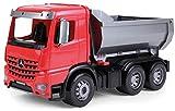 Lena 04600 - Worxx Muldenkipper Mercedes Benz Arocs, ca. 45 cm, Baustellen Spielfahrzeug für Kinder ab 3 Jahre, robuster Kipper LKW mit verriegelbarer Kippmulde und beweglicher Heckklappe