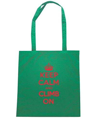 T-Shirtshock - Borsa Shopping OLDENG00844 keep calm climb Verde