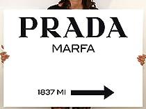 Tableau art moderne Prada Marfa Gossip Girl, toile imprimée, décoration 00 - 150x105 cm
