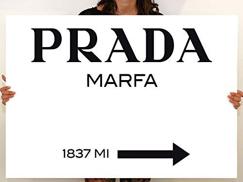 Tableau art moderne Prada Marfa Gossip Girl, toile imprimée, décoration 00 - 120x85 cm, Divers