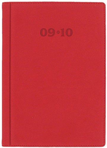 Letts-diario scolastico 12 mesi 09-10 verona, formato a5, visualizzazione settimanale, colore: rosso