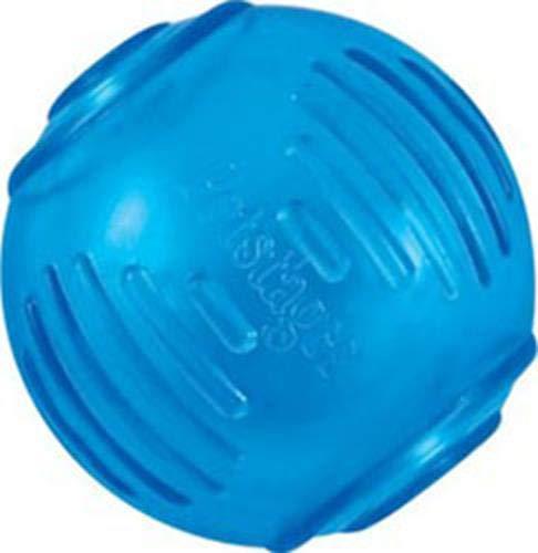 Petstages #235 Orka Tennis Ball, Kauspielzeug für Hunde, Hundeball, Spielzeug blau