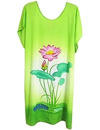 GladiolusA Talla Grande Camisones De Mujer Pintura Tinta Vestido Pijamas Ropa Interior Ropa De Dormir Premamá