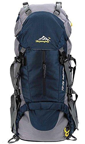Imagen de 45l+5l  de senderismo impermeable con cubierta lluvia paquete del alpinismo escalada trekking camping deporte al aire libre azul oscuro, l  alternativa