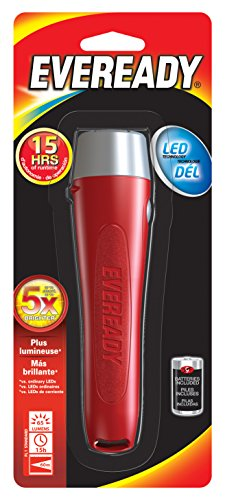 Energizer Akku evgp21s Eveready Allgemeine Zwecke LED Taschenlampe, Rot -