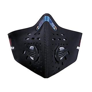 TININNA Neue Mode Aktivierte Carbon Anti Haze Maske Outdoor Anti-Verschmutzungs maske Carbon Tuch Filter Motorrad Radfahren Reiten Staubdicht Winddicht Halbes Gesicht Maske (Schwarz)EINWEG Verpackung