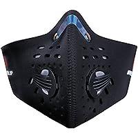 TININNA Máscara de Carbón Activado Haze Máscara al Aire Libre Máscara de Carbono Media Cara Negro