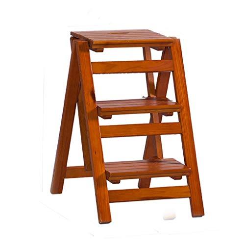 YXCUIDP//Taburetes escalera multifunción Taburete Plegable Escalera Plegable, Estante de Flor de Madera Maciza Stand-Household Wooden Ladder Multifunción Interior Ascend Ladder Taburetes Escalera