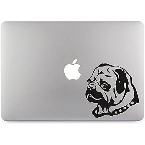 Cane carlino Apple MacBook Air Pro adesivo Skin adesivo decalcomania, in vinile