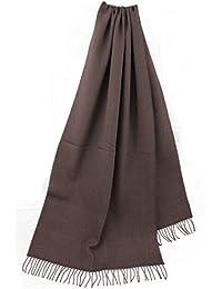 Sciarpa tessuta a spina di pesce Uni moda jean viola lana 100% (Merino) 12ed00cf414a