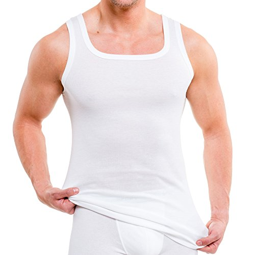 43af0d68f8745d HERMKO 93015 4er Pack Herren Unterhemd aus Bio-Baumwolle