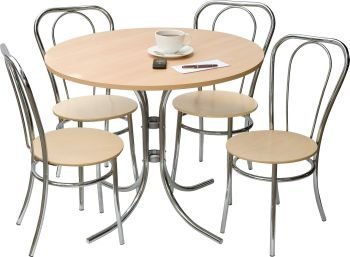 Teknik Deluxe Stylish Bistro Dining Table And Four Chairs Set by Teknik