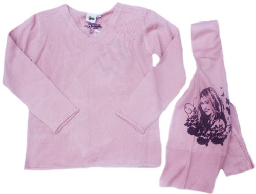 Schal Kinder Pullover Hannah montana O58145 Kinder Trainingsanzug für Mädchen, Rosa -