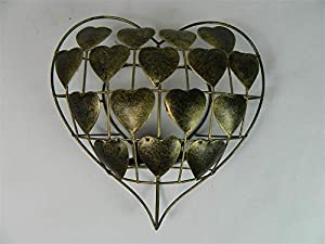 Thai Gifts Love-Heart Wall Art Tealight Holder/Sconce - Gold from Thai-Gifts