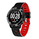 UxradG CF58Bluetooth sport bracciale fitness tracker cardiofrequenzimetro impermeabile Smartwatch contapassi orologio intelligente, red