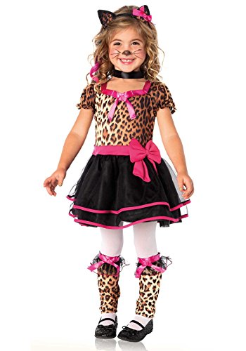 Leg Avenue C21033 - Pretty Kitty Kostüm, Größe 2T-3T (EUR 86-104), Kinderkostüm Karneval - Leopard Kitty Sexy Kostüm