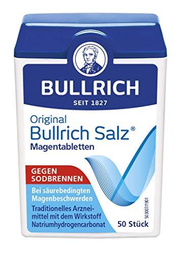 Original Bullrich Salz®| schnelle Hilfe bei Sodbrennen und säurebedingten Magenbeschwerden (50 Tabletten)