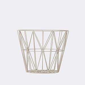 Ferm Living Wire Basket - Grey - Small - h35 x b40 cm
