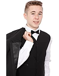 Boys Black Tuxedo Suit 5 Piece Age 1-15 Years