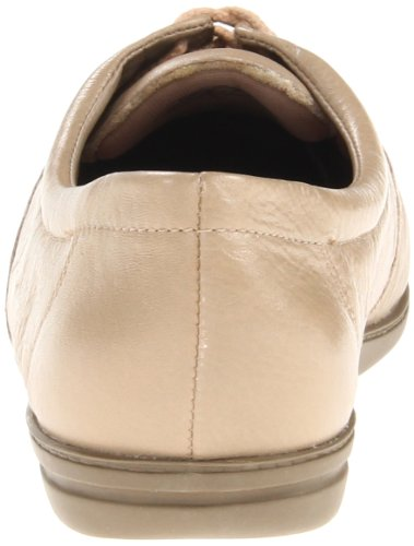 Easy Spirit Motion Breit Rund Leder Schnürschuh Wheat Leather