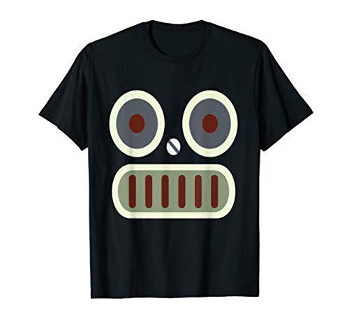 Retro Roboter-Gesicht einfaches Kostüm T-Shirt