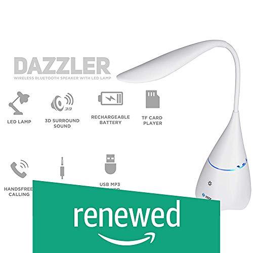 Renewed  Zoook Rocker Dazzler Bluetooth Speaker with Lamp  White