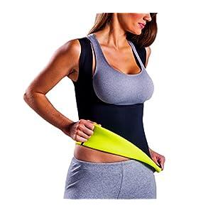 Canotta fitness 302333 effetto snellente e dimagrante taglie dalla S alla XXL. MEDIA WAVE store ® (L)