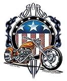 yujean American Chopper Motorrad Aufkleber Sticker Biker Moped USA America