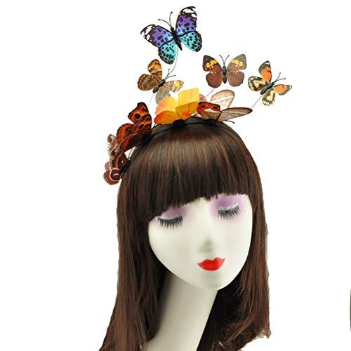 Neborn Schmetterling Mädchen Haar Band Kinder Geschenke Fee Prinzessin Stirnband 1 PC Party Mädchen Haar Zubehör Bunte Handgemachte Kinder (L) (En Vogue-haar-zubehör)