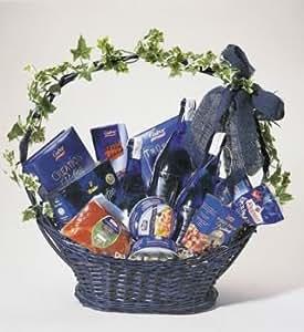 Präsentkorb / Geschenkkorb blau