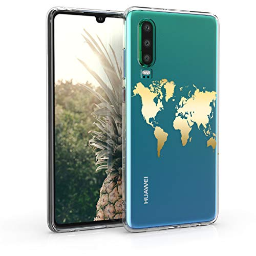 kwmobile Huawei P30 Hülle - Handyhülle für Huawei P30 - Handy Case in Gold Transparent