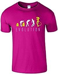 Evolution Of Alien Hommes Femmes Dames Enfants Drole T-Shirt