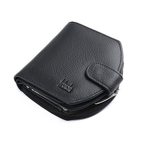 Hommes portefeuille, FEITONG Mini carte de crédit en cuir ID Coin Holder Pince à billets Porte-monnaie