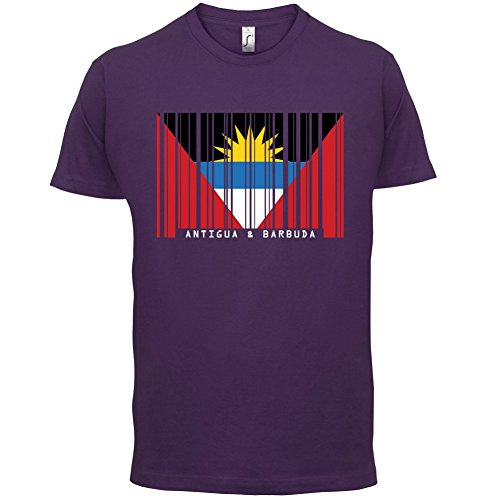 Antigua and Barbuda / Antigua und Barbuda Barcode Flagge - Herren T-Shirt - 13 Farben Lila