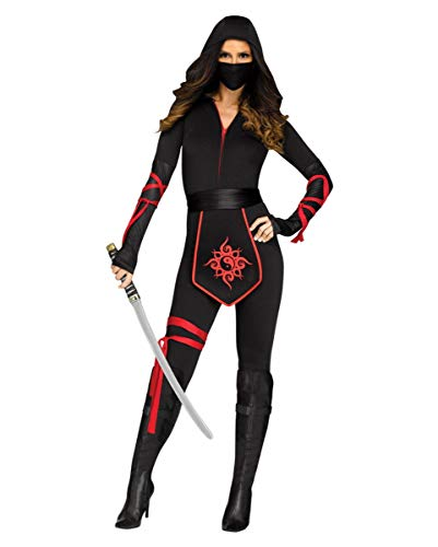 Horror-Shop Sexy Ninja Assassin Frauenkostuem S
