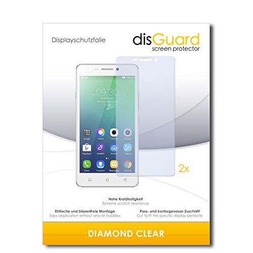 2 x disGuard® Bildschirmschutzfolie Lenovo Vibe P1m Schutzfolie Folie