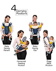 Toyboy 4-In-1 Baby Carrier With Comfortable Head Support - Blue