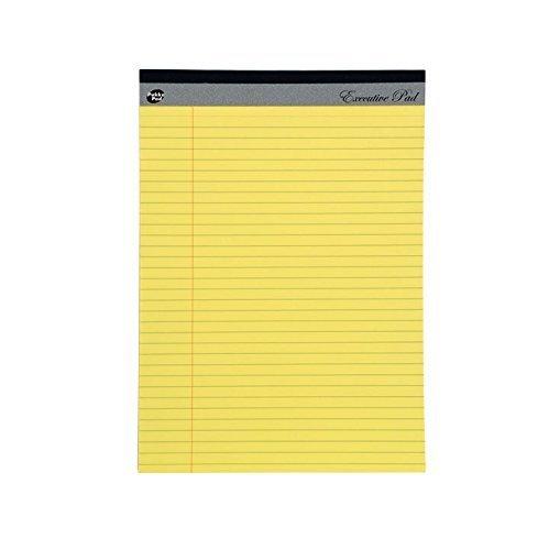 Pukka - Blocco di carta a righe, ricarica, con margine laterale da 8 mm, 60 g/mq, giallo