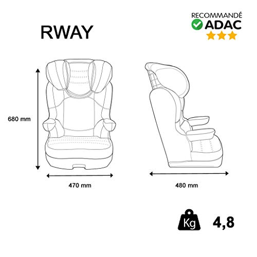 Nania R-Way Luxe Group 2/3 Highback Booster Car Seat, Disney Princess