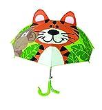 Paraguas largo infantil 3D (Tigre Verde)..