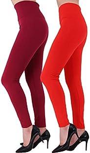 HeyUU Womens Seamless Fleece Lined Leggings Winter Warm Comfortbale High Waist Spandex Leggings 1/2/6 Pairs