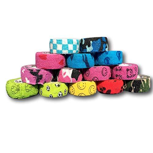 Pflasterverband, Wundpflaster, Kinderpflaster, Tierpflaster, elastisch & ohne Kleber, 2,5cm breit (5er Packung, Motiv Mix)