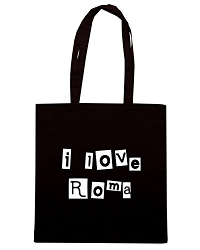 T-Shirtshock - Borsa Shopping TLOVE0112 i love roma (3) Nero