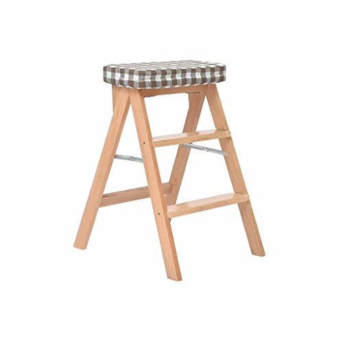 Cucina scaletta 3 punti passo sgabello arrampicata alta pieghevole in legno massello famiglia multifunzione portatile sconto scala mobile con cuscino 100kg capacità