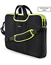 AirCase 15.6 Inch Laptop Sleeve Bag with Removable, Adjustable Shoulder Strap for 15 Inch MacBook & Laptops (Fabric - Neoprene|Black)
