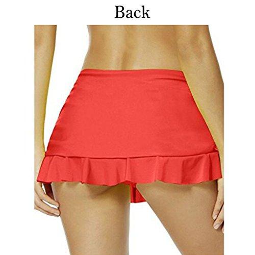 Costumi da bagno Juleya Donna Pantaloni per i pantaloni da spiaggia Bikini Beach/Mini Gonne Gonna corta Monocromatica EU 34 - EU 48 Rosso