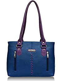 Fristo Two Zips Women's Handbag (Blue And Purple)