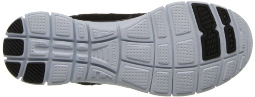 Skechers Flex Appeal spring Fever, Sneakers Basses Femme Black/White
