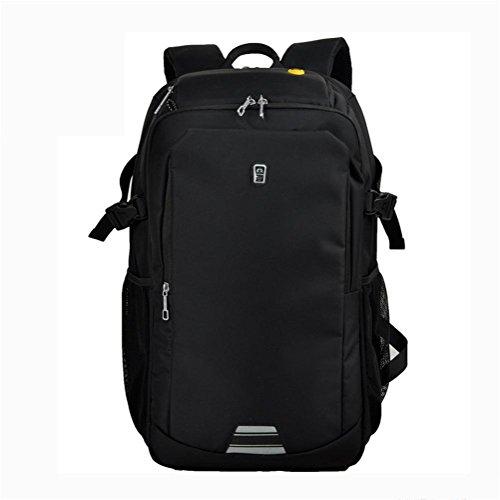 Laptop zaino affari Borsa a tracolla studente Borsa da scuola viaggio Grande capacità zaino Black