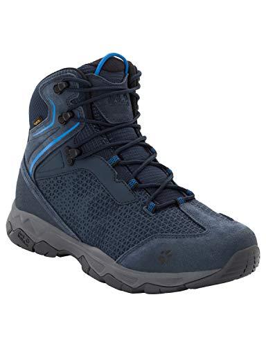 Jack Wolfskin Herren Rock Hunter Texapore Mid Trekking- & Wanderstiefel, Blau (Night Blue 1010), 43 EU